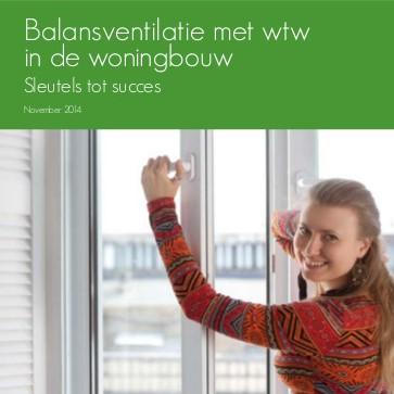 Balansventilatie met wtw in de woningbouw