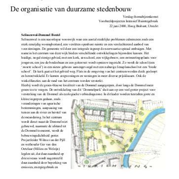 De organisatie van duurzame stedenbouw