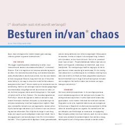 Besturen in/van chaos