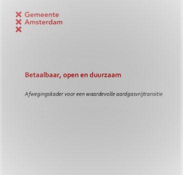 Betaalbaar, open en duurzaam